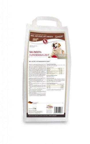 SALiNGO Senior Hundefutter trocken, Rind mit Geflügel und Erbsen (2kg)