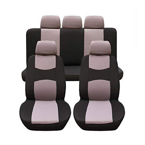 GODGETS Copri-sedili Auto Universale Set Completo/Set Copri-Sedile Universali per Anteriori e Posteriori/Accessori Auto Interno,Nero Grigio,2 * Seater Anteriore + 3 * Seater Posterio
