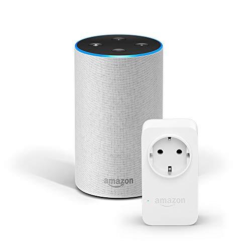 Angebot: Amazon Echo (2. Gen.), Sandstein Stoff + Amazon Smart Plug (WLAN-Steckdose), Funktionert mit Alexa für nur 103,98 € statt bisher 114,98 € auf Amazon