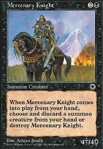 Preisvergleich Produktbild Magic: the Gathering - Mercenary Knight - Portal by Magic: the Gathering