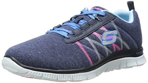Skechers Flexionar Apelar - Milagreiro, Sneakers Damen Blau (marinha / Múltiplas)