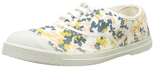 Bensimon Tennis Plumetis, Baskets Basses Femme Multicolore (101 Blanc)