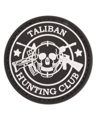 Taliban Hunting Club Airsoft Klett Anhänger Patch Schwarz