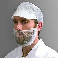 Shield DK05W - Máscara para barba (talla única, 100 unidades), color blanco