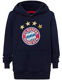 FC Bayern München Hoodie Logo Niños - Marino - Kapuzensweats-Kinder - Azul Marino,