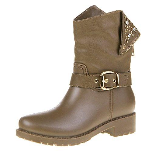 Damen Schuhe, YMS-7, STIEFEL Hellbraun