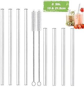 Dünne Trinkhalme ideal für Cocktail, Glänzende Papier-Strohhalme