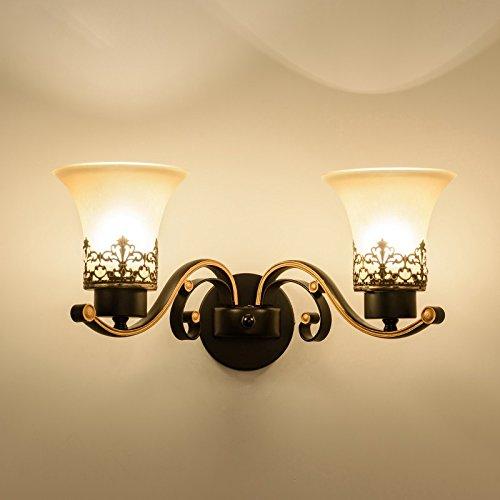 XXN-Parete parete retrò lampada lampada al posto letto camera da letto corridoio specchio lampade American ferro battuto lampada da parete,