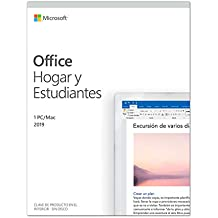 Microsoft Office Hogar y Estudiantes - Software para PC o Mac, para 1 PC/MAC, Version 2019