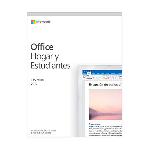 Price comparison product image LICENCIA MICROSOFT OFFICE HOME & STUDENT 2019 - 1PC / MAC - WORD - EXCEL - POWERPOINT - ONE NOTE