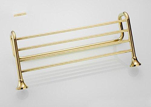 SSJDCF Handtuchstange/Handtuch Bad vergoldet alle Kupfer Handtuchhalter Handtuchhalter 600mm*265mm -