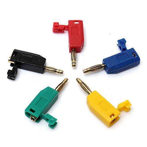 DyNamic 5 Farben 2Mm Banana Plug Connector Jack For Speaker Amplifier Test Probes Terminals Cooper