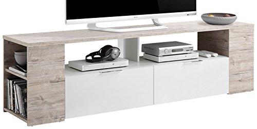 FMD Möbel Tabor 2 TV/Hifi-Element, Holz, sandeiche / weiß, 180 x 40 x 50 cm (Tv-element 50)
