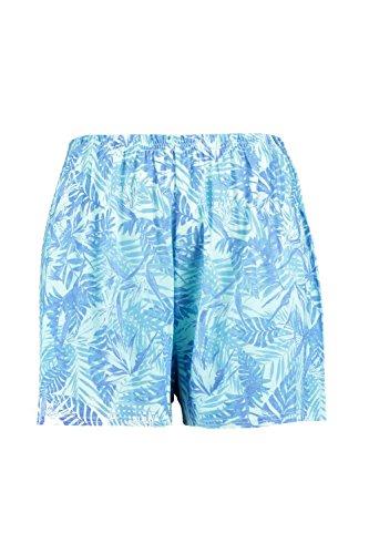 Damen Multi Plus Anna Ausgestellte Shorts Mit Palmen-print Multi