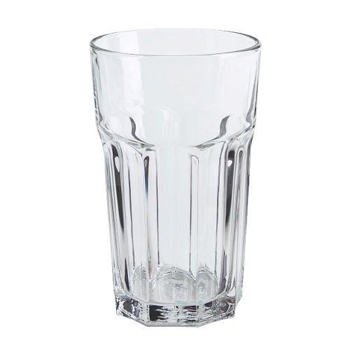 Hoch-cocktail (IKEA 6-er Set Gläser POKAL stapelbares Glas für Cocktail Longdrink Tee Kaffee Wasser - 350ml - 14cm hoch - spülmaschinenfest)
