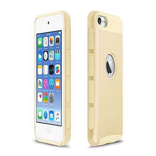 Xinda per iPhone 6/6S-Cover, custodia ibrida in silicone a doppio strato, con robusta custodia Armor-Custodia rigida per Apple iPhone 6 6S 4.7 , plastica, Dark Blue+Green, oro
