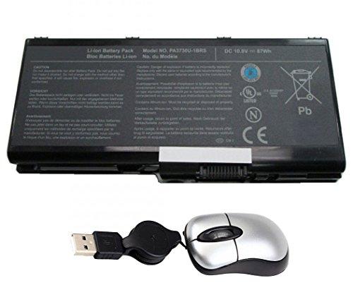 amsahr TSHPA3730-05 Ersatz Batterie für Toshiba PA3730, Satellite W35DT, W35DT-A3300, Pa5156u-1brs - Umfassen Mini Optische Maus schwarz