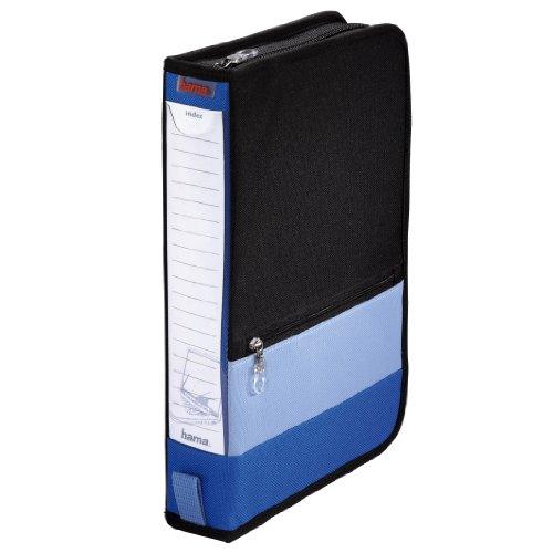 Hama Office Wallet 64 CD-Tasche im Büro-Ordner Design für bis zu 64 CDs blau / schwarz