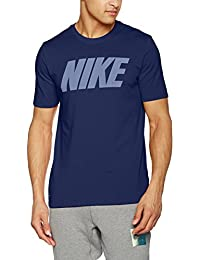 Nike M Nk Dry Tee Df Block Camiseta de Manga Corta, Hombre, Azul (Binary Blue / Vivid Sky / White), L