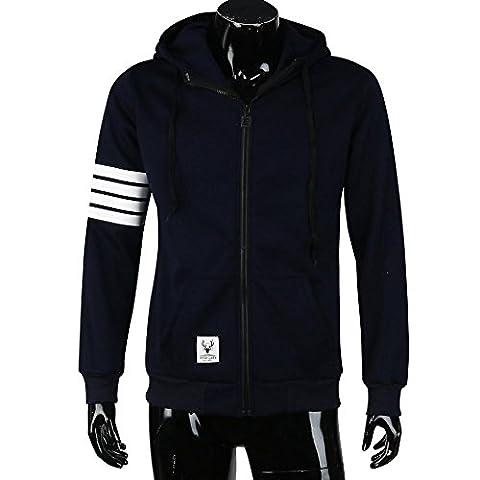 """Vêtements homme, Yogogo Hommes Mode Hommes Costume de sport Sweat-shirt Vêtements Vestes à capuche (Taille asiatique XL/Bust 108CM/45.2"""", Marine)"""