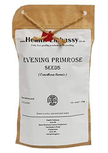 Semi di Enotera (Oenothera biennis) 100g / Evening Primrose seeds - Health Embasssy - 100% Natural