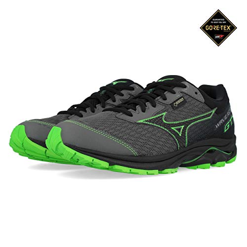 Mizuno Wave Rider 22 GTX Gunmetal Black Green 44