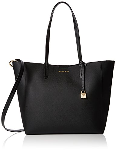 Michael Kors Womens Penny Coated Twill Covertible Tote Top-Handle Bag Black (BLACK)