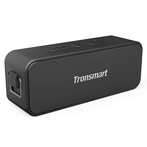 Waterproof Bluetooth speaker, Tronsmart T2 PLUS Portable Speaker with 24 Hours Playtime, IPX7 Waterproof Wireless Bluetooth 5.0 Speaker with TWS, Voice Assistant, Built-In Mic for Phone Outdoor, Alexa