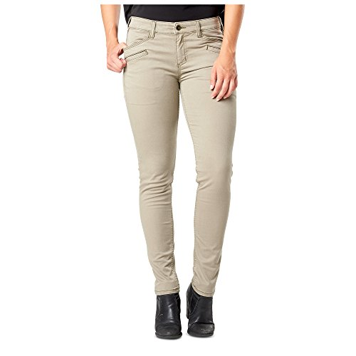 Kavallerie-twill (5.11 Tactical Damen Kavallerie Twill Defender-Flex Slim Pants, Device Ready Pockets, Style 64415, Damen, Stone, 6-Long)