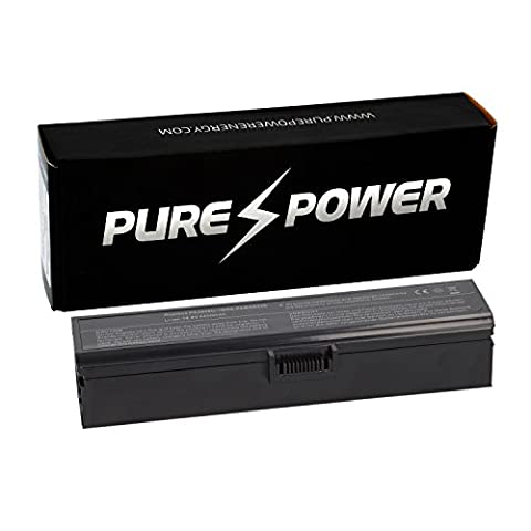 PURE⚡POWER® Batterie ordinateur portable pour Toshiba Qosmio X770-11R (14.4/14.8V, 4400 mAh, noir, 6 accumulateurs)
