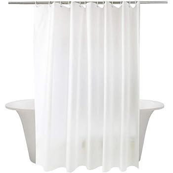 momony Wasserdicht Weiß Massiv Stoff Duschvorhang Polyester waschbar ...