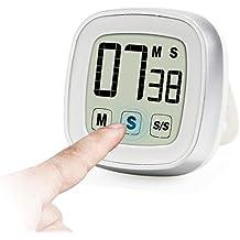 Innotree Touch Screen Digital Timer da Cucina / Stopwatch, Novità ampio display forte allarme magnetico Back & stand conto alla rovescia e timer elettrico
