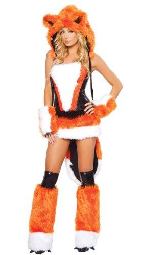alloween Karneval Orange Wolf Mit Großem Schwanz Spielanzug Partykleid Cosplay Kleid ()
