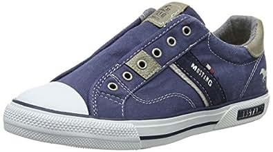 Mustang Unisex-Kinder 5046-401-800 Slip on Sneaker, Blau (Dunkelblau), 31 EU