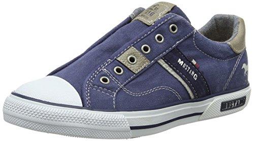 Mustang Unisex-Kinder 5046-401-800 Slip On Sneaker, Blau (dunkelblau), 34 EU Kinder Slip-on Schuhe
