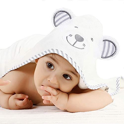 Pejoye Toalla de Baño conCapucha de Bambú Orgánico para Niñas, Niños, Bebés y Recién Nacidos Toallas con Capucha de Panda de Bebé Algodón Natural Muy Duradero Extra Suave y Grueso