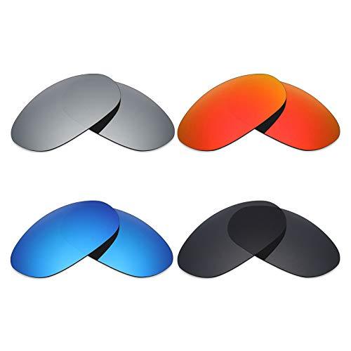 MRY 4Paar Polarisierte Ersatz-Objektive für Costa del Mar Harpoon sunglasses-stealth schwarz/fire rot/ice blau/Smaragd Grün