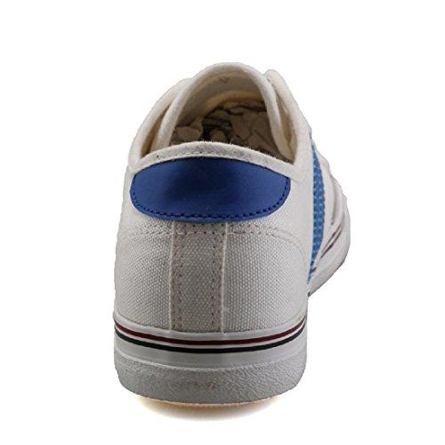 Uomo Ballerine Retro Tempo libero traspirante Scarpe casual white blue
