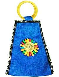 Samyawoven Bag Custom Unique Woven Tote Shoulder Bag Handbag Gift For Women Girls - Sky Blue