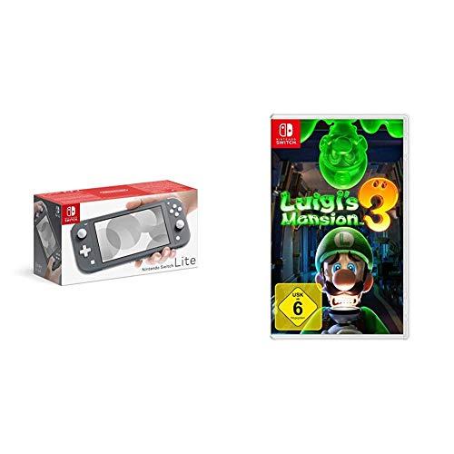 Nintendo Switch Lite, Standard, grau + Nintendo Luigi's Mansion 3 - [Nintendo Switch]