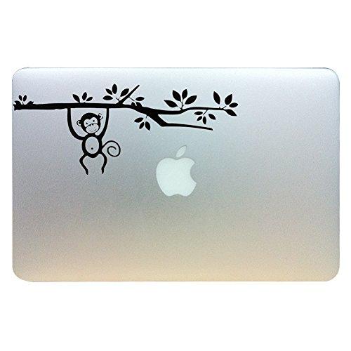 MacBook Aufkleber, Chickwin Creative Pattern dekorativ Film Notebook Sticker Skin personalisierte Aufkleber MacBook Decal (13.3/15.4/17 Zoll) (Affe) (Los Notebook 17 Angeles)