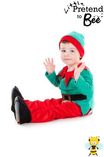 Childrens Toddler Santa's Little Helper Cute Elf Christmas Costume 2 - 3 Years by Pretend to - Little Christmas Elf Kostüm
