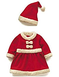 DS Size 80(Gr. 80) Cute Christmas Dress with Hat Costume Overall Jesus Father Christmas Baby Hat