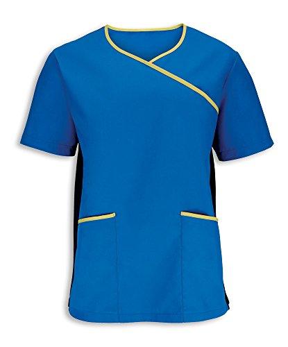 Alexandra stc-nm43be-xxl Herren Stretch Scrub Top, Uni, 67% Polyester/33% Baumwolle, Größe: 2X Große, Klinge blau/lime (Scrubs 2 X Top)