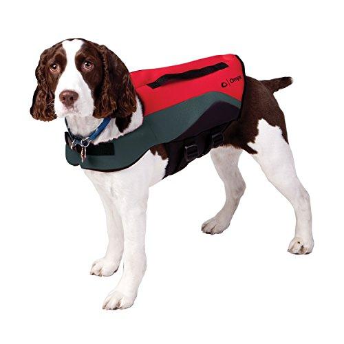 Absolute Outdoor Onyx Neopren Pet Weste, 157200-100-050-12, rot/grau, X-Large (Neck 18-24-Inch/Chest 30-42-Inch/Waist 26-36-Inch) (Life Vest Marine)