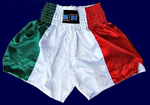 mmasport Muay Thai Shorts Thai Boxe Kick Boxing MMA Satinati Italy, M