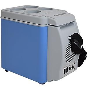 Gino Gelati 6 Liter 2 in 1 Mini Kühlschrank Kühlbox Warmhaltebox Campingkühlschrank 12 & 220 Volt, kühlt bis 25°C unter Umgebungstemperatur from Gino Gelati