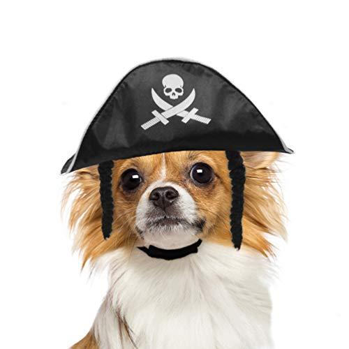 Hunde Piraten Kostüm - Balacoo Hund Pirat Hut-Haustier Pirat Kostüm Hund Katze Kopfbedeckungen für kleine Hunde und Katzen perfekt für Halloween Weihnachten und Mottoparty