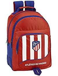 Atlético de Madrid plumier Mochila 4 Estuches llenos, 33 Piezas, Escolar.
