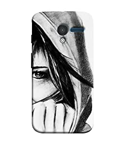 PrintVisa Designer Back Case Cover for Motorola Moto X :: Motorola Moto X (1st Gen) XT1052 XT1058 XT1053 XT1056 XT1060 XT1055 (Young Female Graphic Life Design Illustration Backcover)